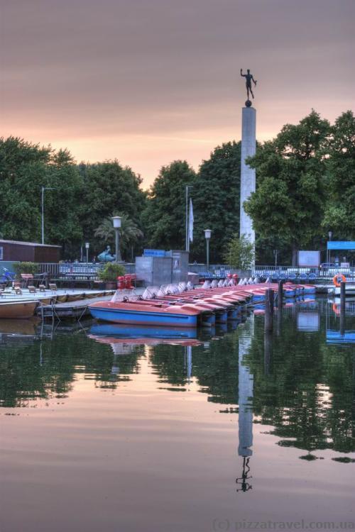 Озеро Машзее в Ганновере