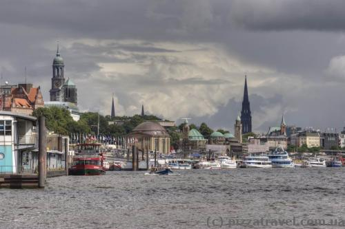 View of Hamburg from the fish market