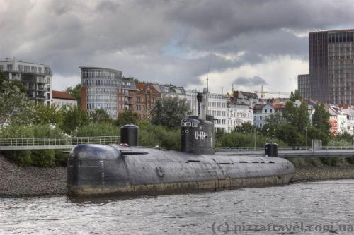 Soviet submarine museum B-515 in Hamburg