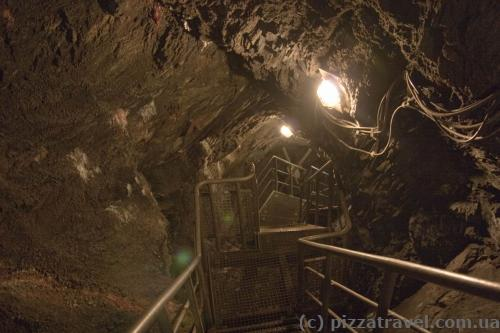 Part of the mine is equipped for the tourists.