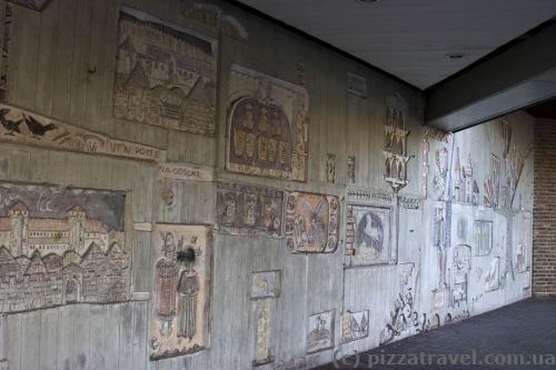 Стіна в центрі Вольфенбюттеля