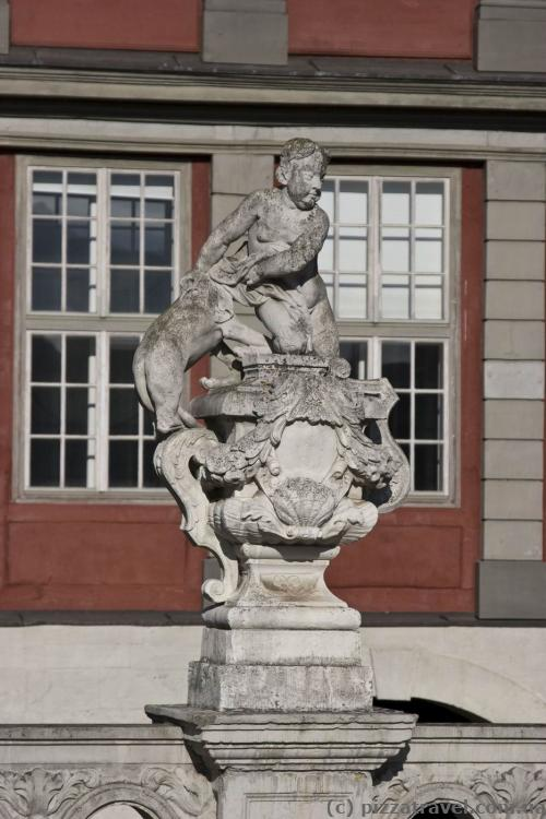 Sculpture near the palace in Wolfenbuettel