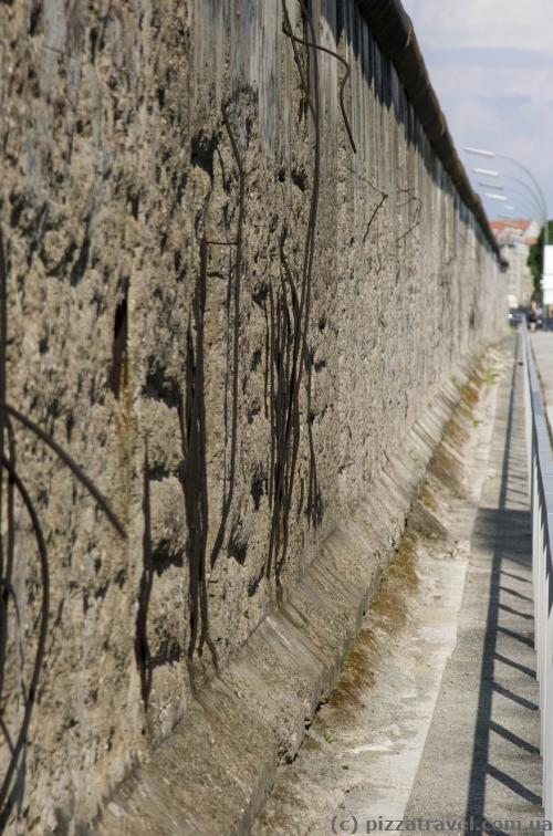 The only preserved part of the Berlin Wall in the downtown