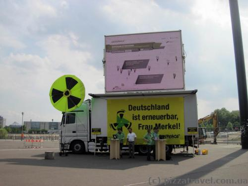 Germans protest against nuclear energy.