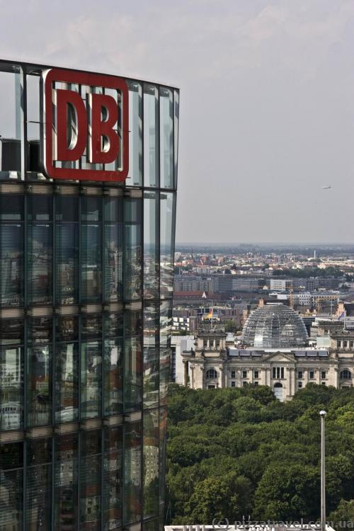 German Railways head office and the Reichstag