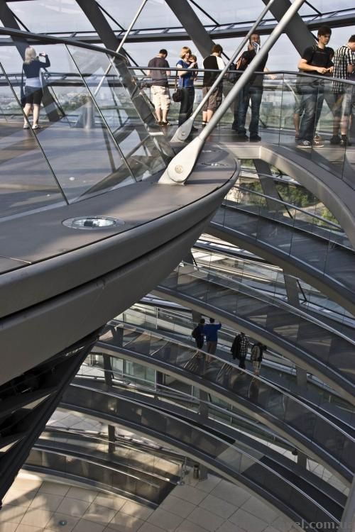 Circular viewing platform in the Reichstag dome
