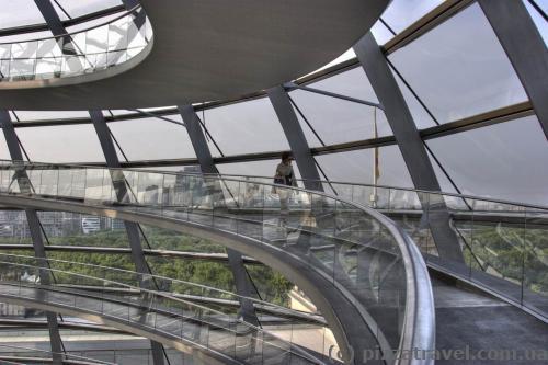 Спиральный пандус в куполе Рейхстага