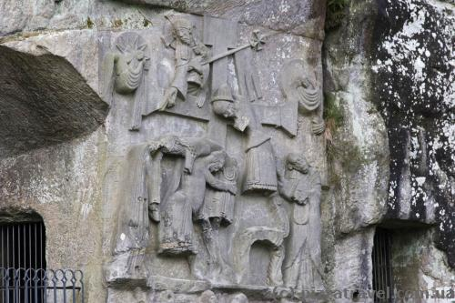 Bas-relief with a scene of removal of Jesus Christ from the cross