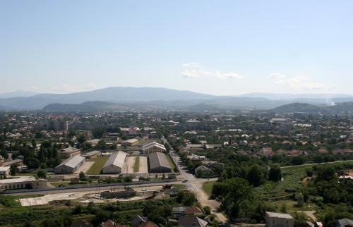 Вид на Мукачево из замка