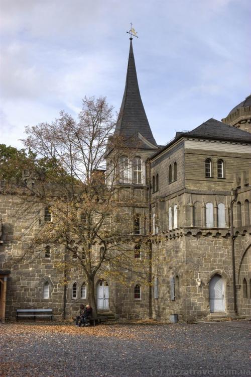 Loewenburg Castle courtyard