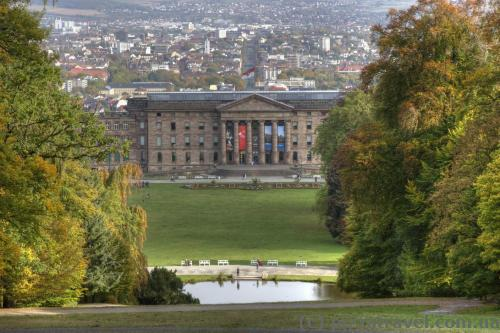 View of the Wilhelmshoehe Palace and Kassel