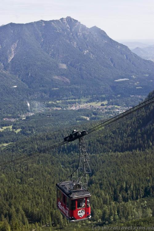 Канатная дорога на гору Цугшпитце со стороны Германии