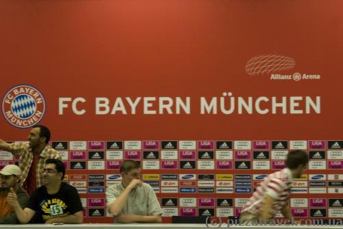 Зал для пресс-конференций на стадионе Альянц-Арена