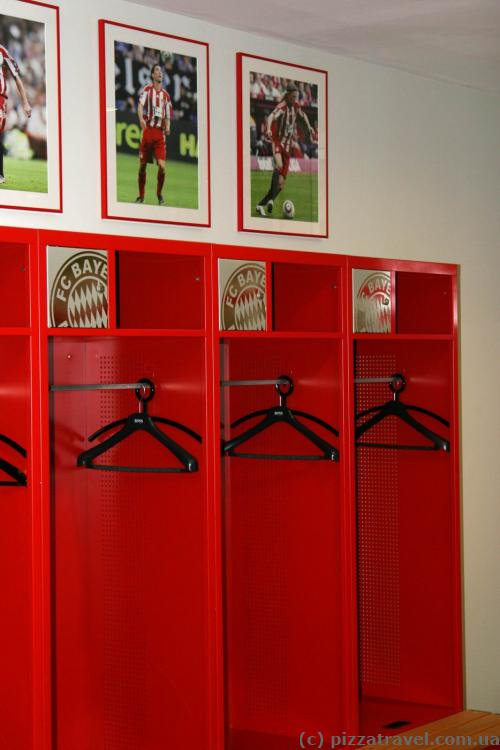 Locker rooms at the Allianz Arena stadium