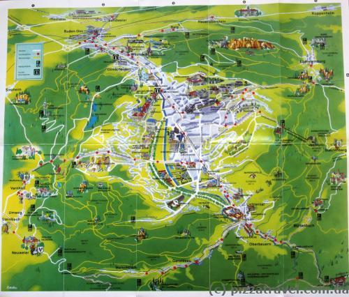 Туристическая карта Баден-Бадена