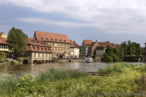 Little Venice on the Regnitz river in Bamberg