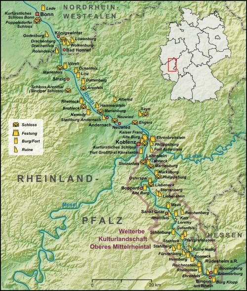 Замки долини Рейну