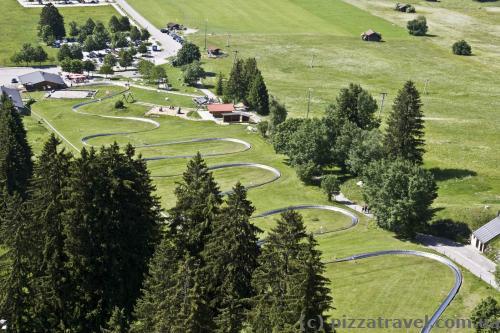 Rodelbahn near Mount Tegelberg