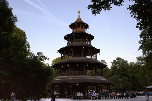 Chinese tower in the English garden in Munich