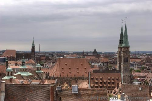 View of the old city from Burg (Nuremberg Fortress)
