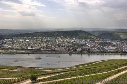 View of the Rhine from the Germany statue