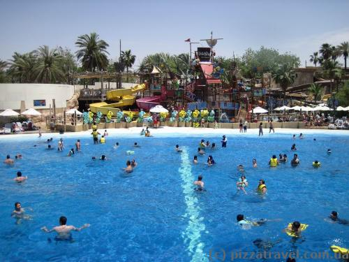 Large pool at Wild Wadi