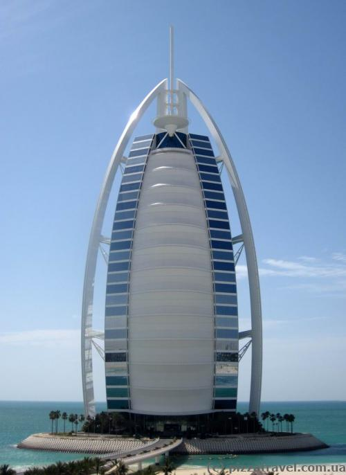 At the highest point you can find an excellent view of Burj Al Arab.