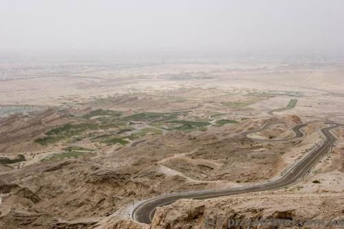 View from observation deck at Mercure Hotel on Jebel Hafeet