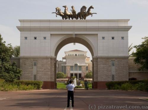 Ворота резиденции правящего шейха