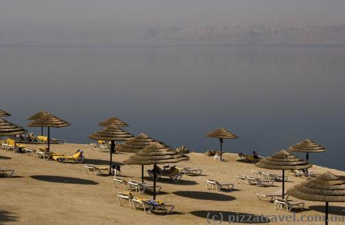 Пляж отеля Mariott на Мертвом море
