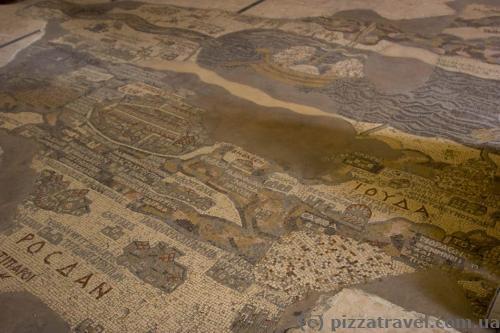 Мозаичная карта Святой Земли VI века