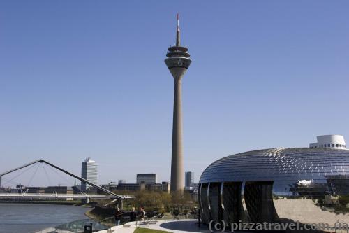 Rhine Tower in Duesseldorf