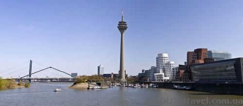 Panorama of Duesseldorf from the Media Harbor