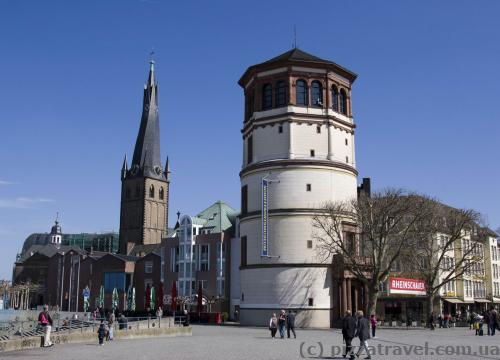 Castle Tower in the old city of Duesseldorf