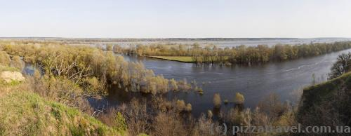 Panorama of the Desna in the Mezyn National Nature Park