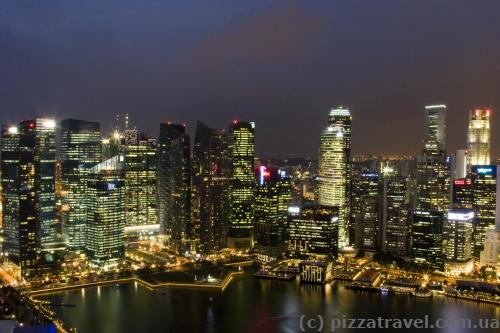 View from the club room window at Marina Bay Sands