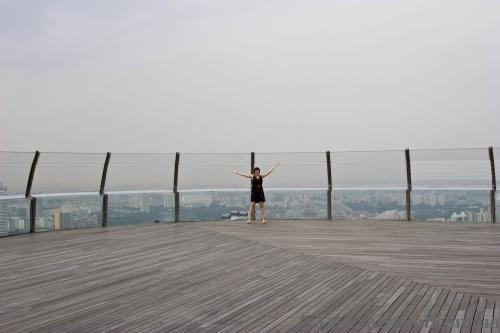 Смотровая площадка в отеле Marina Bay Sands