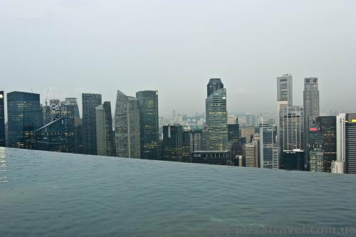 Бассейн Инфинити на крыше отеля Marina Bay Sands