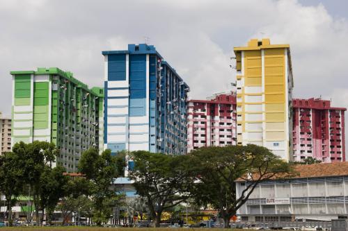 Кольорові будиночки між арабським та індійським кварталами