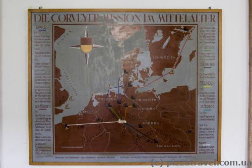 Карта показывает роль замка в средние века.