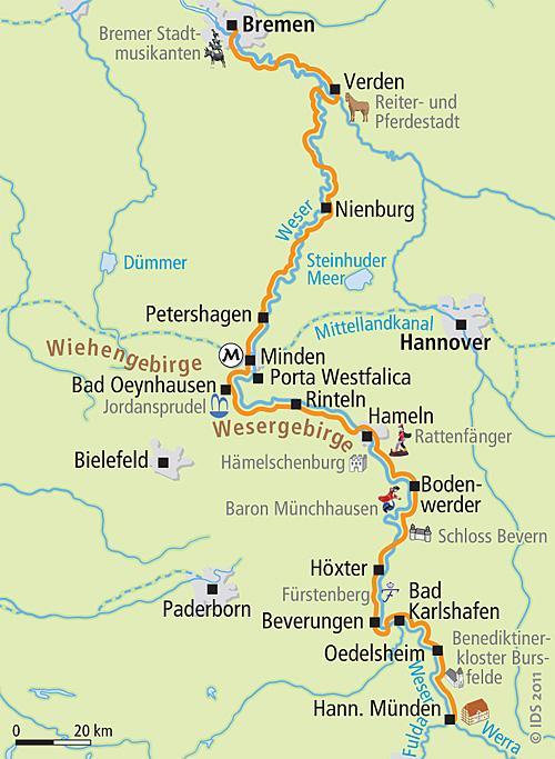 Велосипедный маршрут по реке Везер