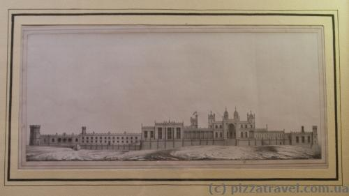 Plan of the palace at the time of construction