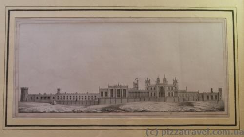 План дворца во время строительства