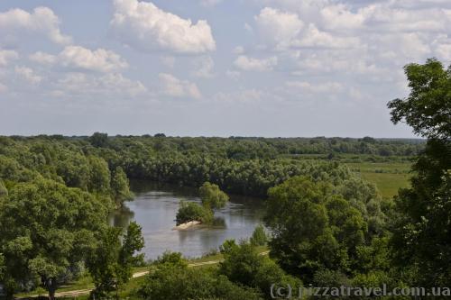 Вид на реку Сейм с цитадели