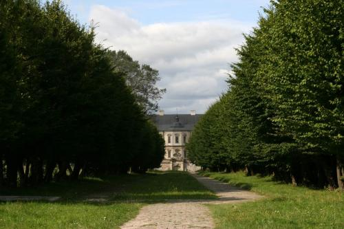 Road from the castle to the church
