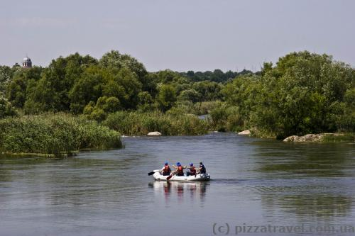 Start of the rafting route