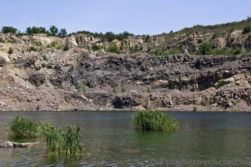 Flooded granite quarry in Migiya