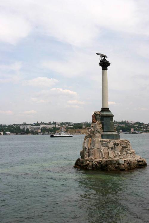 Monument to sunken ships